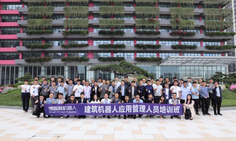 安徽腾越第一批建筑机器人应用管